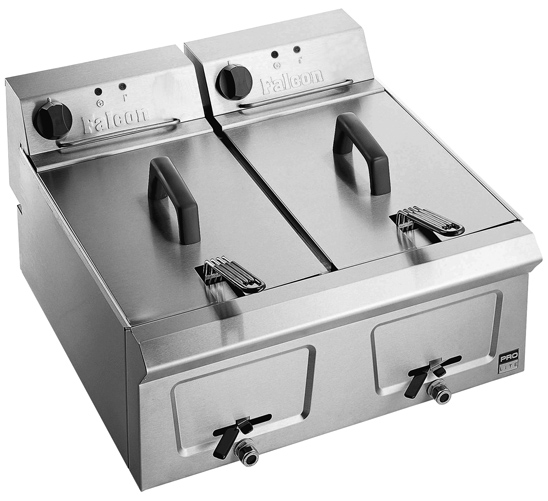 Twin Tank Counter Top Electric Fryers Cater Kwik Ireland